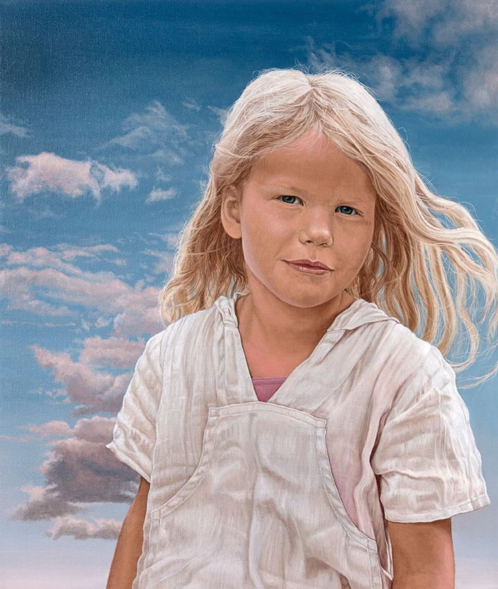 Alberte Forsell, Olie på lærred, 80 x 70 cm