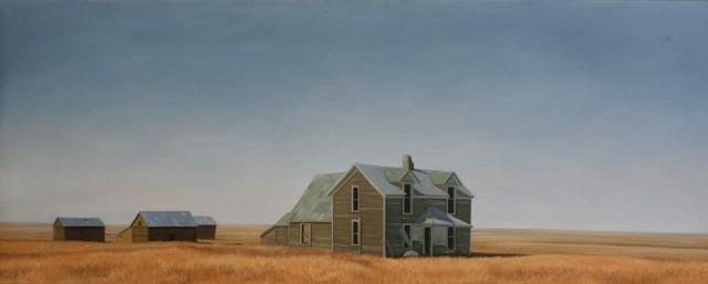 American Dream, Olie på lærred, 75 X 200 cm