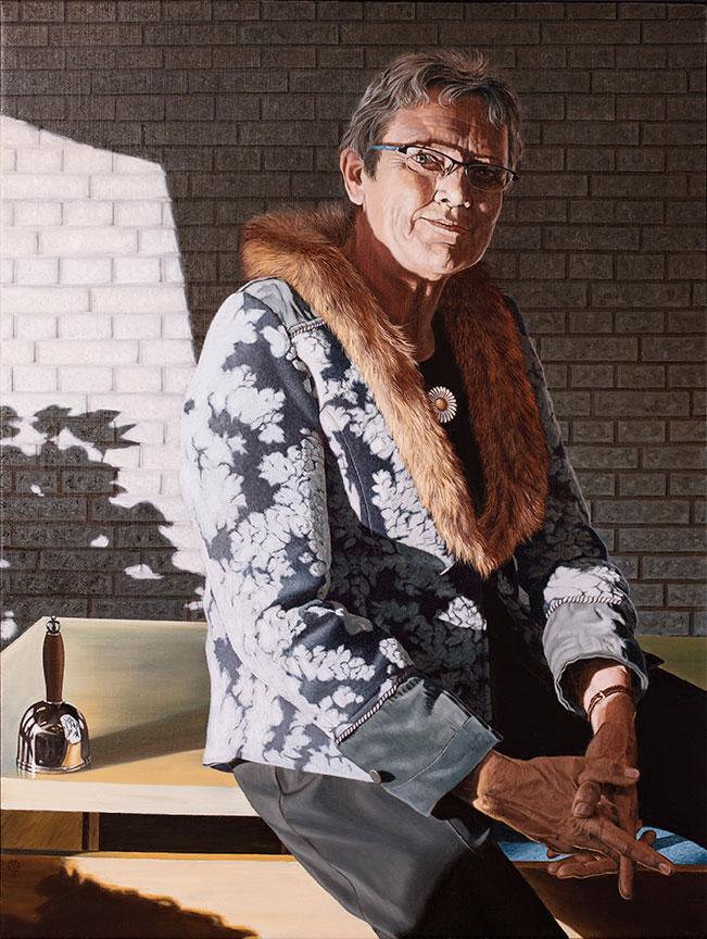 Anna Margrethe Kaalund, Olie på lærred, 100 x 80 cm