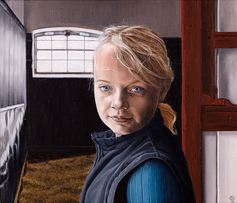 Anna Skadhede, Olie på lærred, 80 x 100 cm