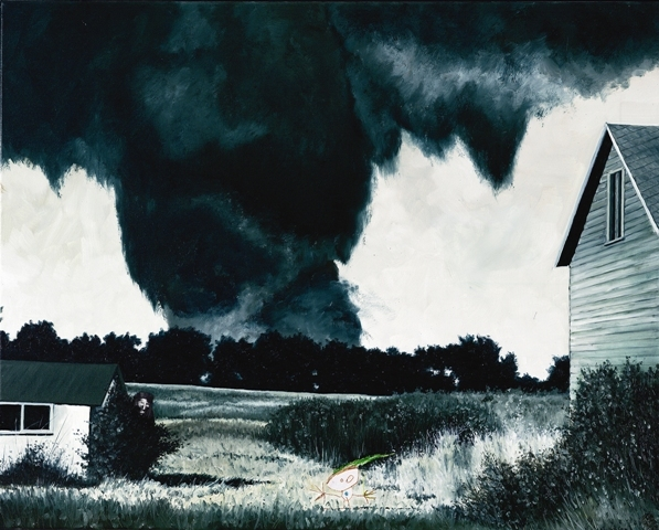 Belphegor and the killer tornado of ruskin heights, Olie på lærred, 80 x 100 cm