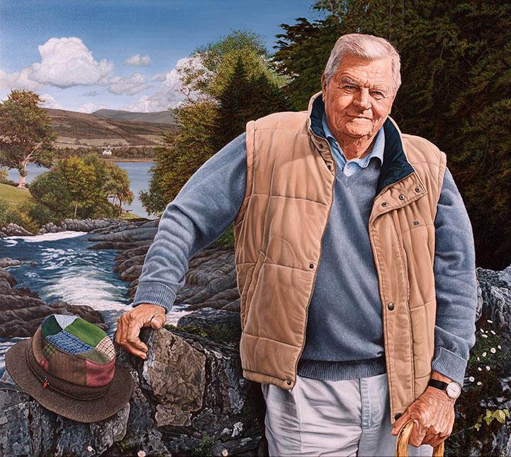 Bent Høyer, Olie på lærred, 125 x 150 cm