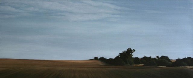 Borderline, Olie på lærred, 75 x 200 cm
