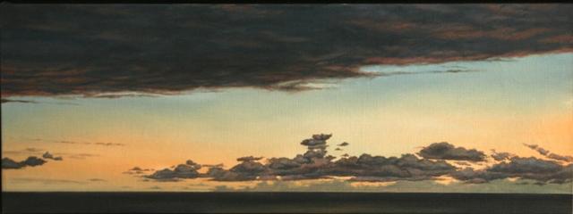 Clouds, Olie på lærred, 70 x 200 cm
