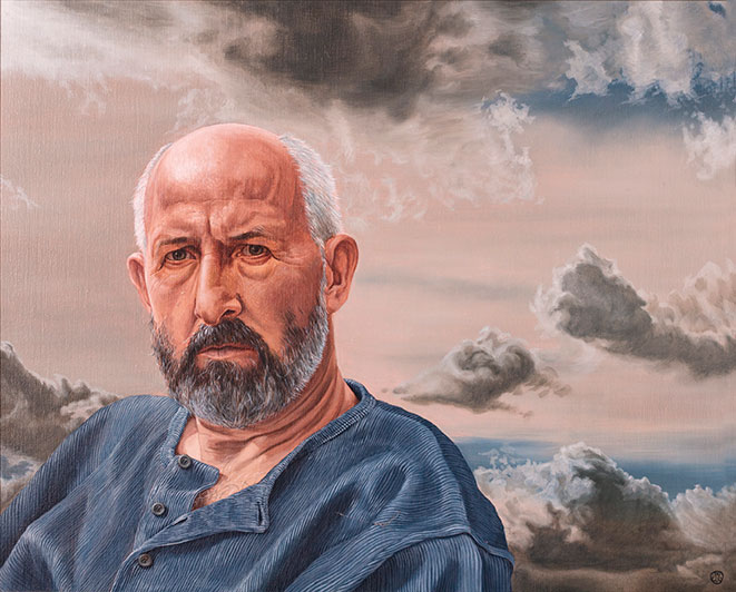 Ejlif Kristensen, Olie på lærred, 70 x 80 cm