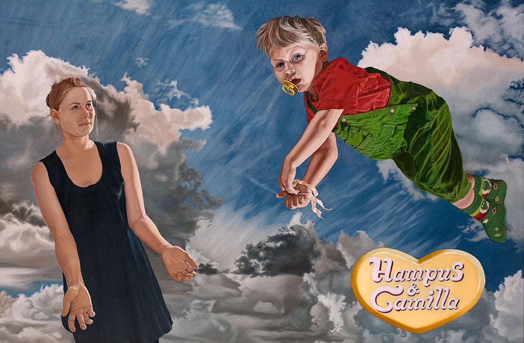 Hampus & Camilla, Olie på lærred 150 x 200 cm