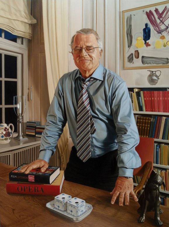 Johan Schlüter, Olie på lærred, 160 x 125