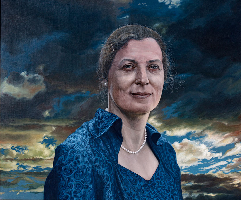 Karen Margrethe Kristensen, Olie på lærred, 80 x 100 cm