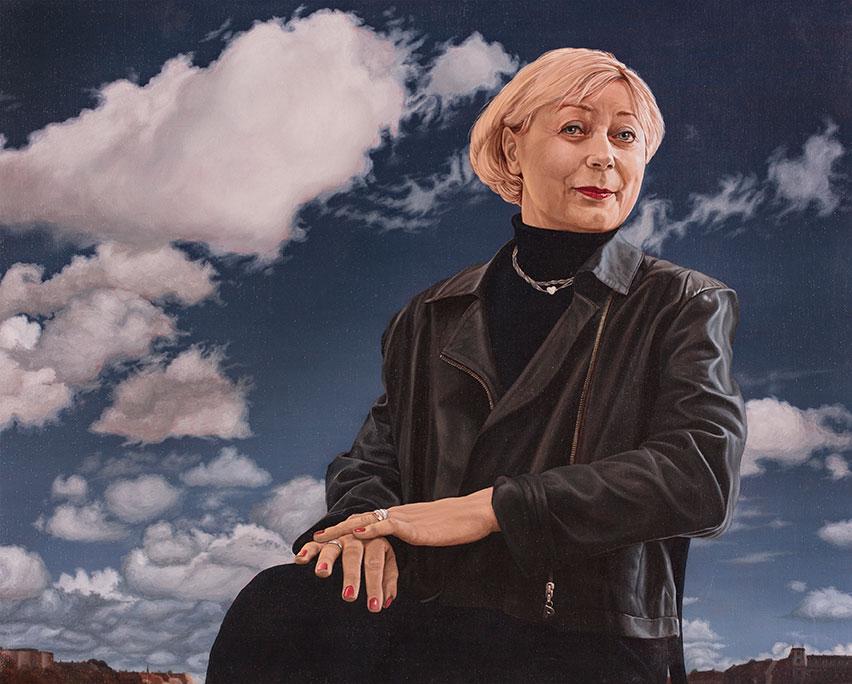 Kirsten Egelund, Olie på lærred 80 x 90 cm