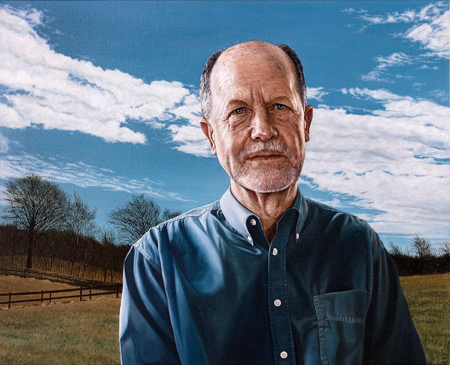 Knud Erik Vingtoft, Olie på lærred, 80 x 100 cm