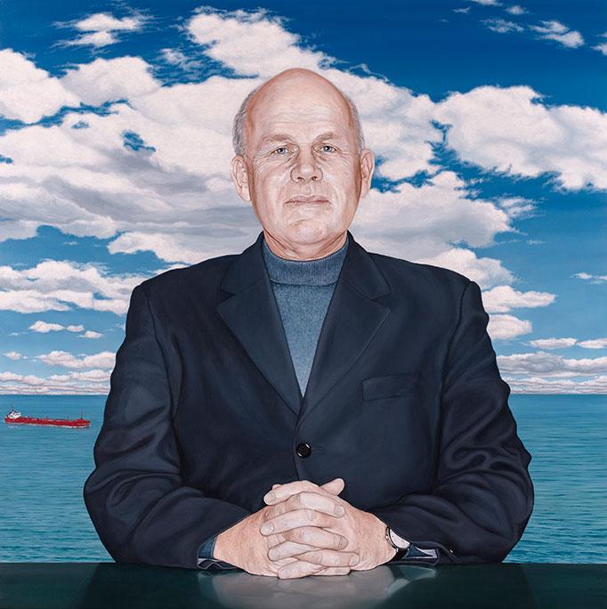 Knud Lysgaard, Olie på lærred, 150 x 150 cm