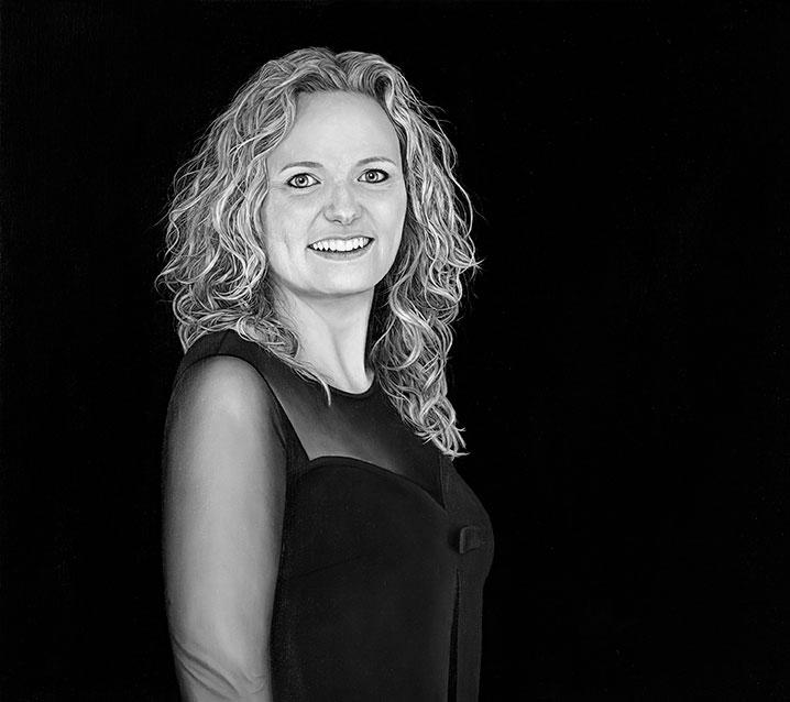 Kristine Struve, Olie på lærred, 70 x 80 cm
