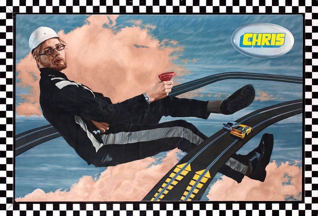 La Chris, Olie på lærred, 150 x 200 cm