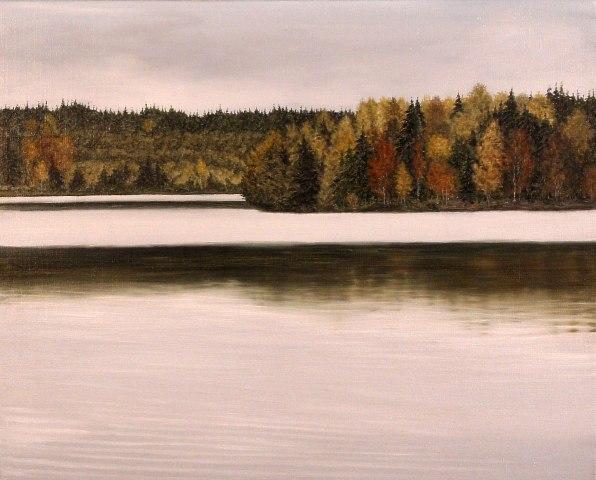 Lake, Olie på lærred, 60 x 80 cm
