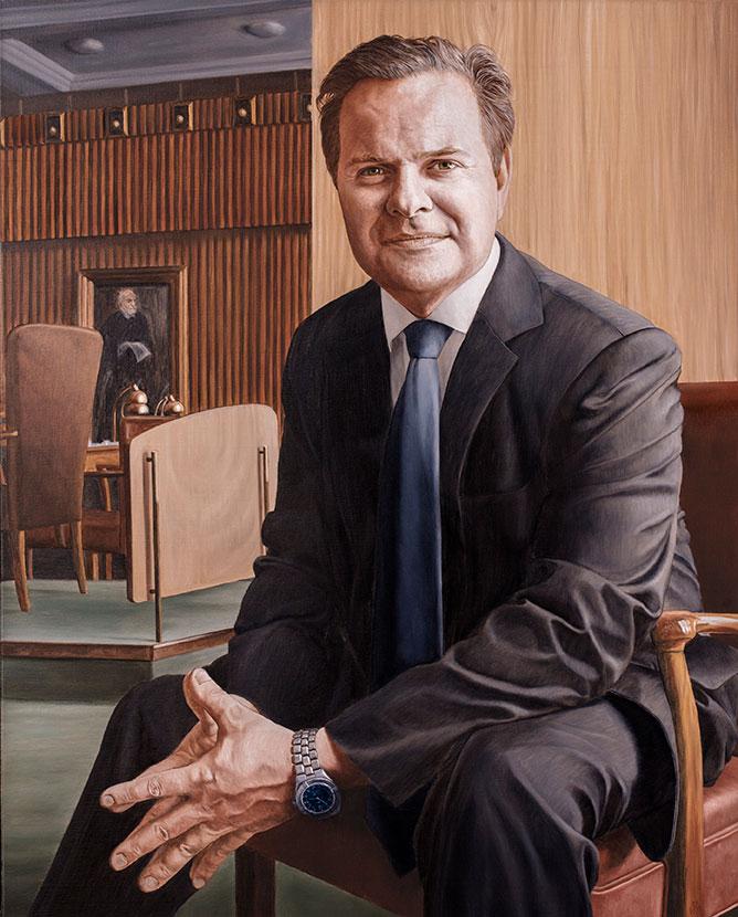 Mads Lebech, Olie på lærred, 100 x 80 cm