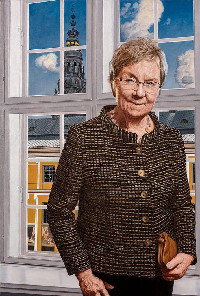 Marianne Jelved, Olie på lærred, 120 x 90 cm