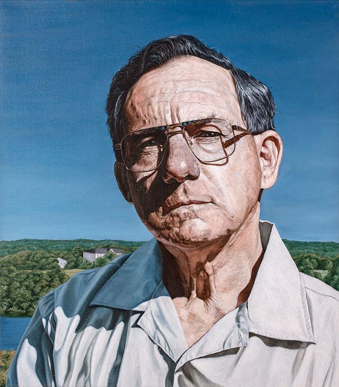 Michael Roth, Olie på lærred, 80 x 80 cm