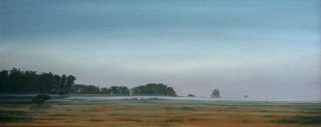 Morning, Olie på lærred, 75 x 200 cm