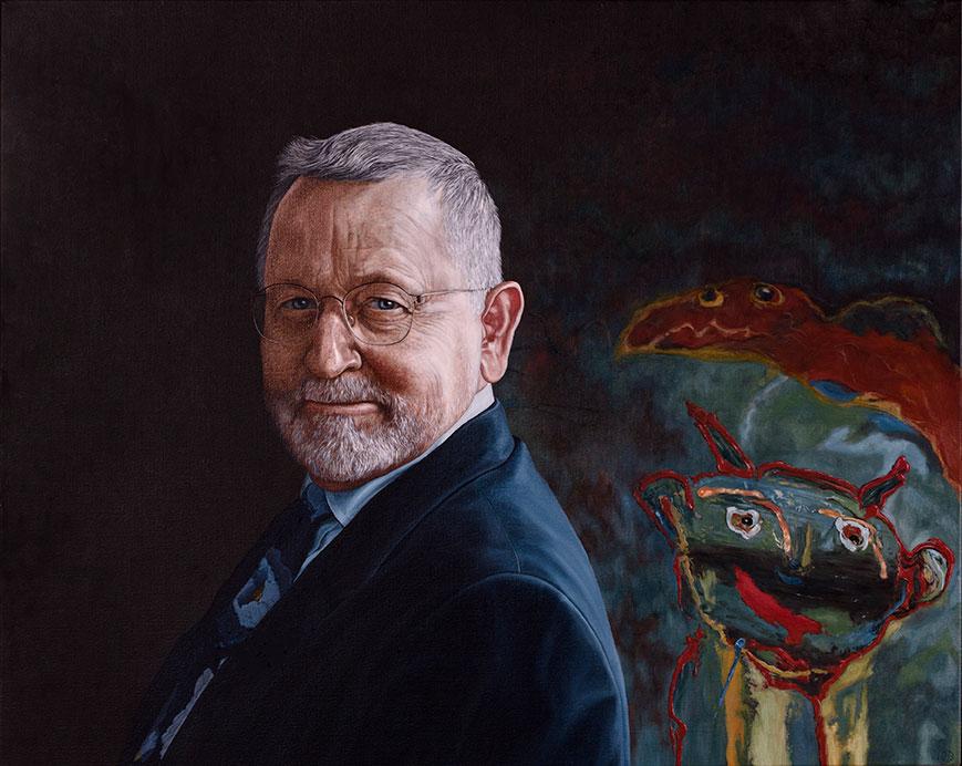 Ole Plougmann, Olie på lærred, 80 x 100 cm