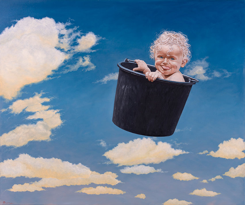 Sofia Lauerberg Stoltze, Olie på lærred, 125 x 150 cm