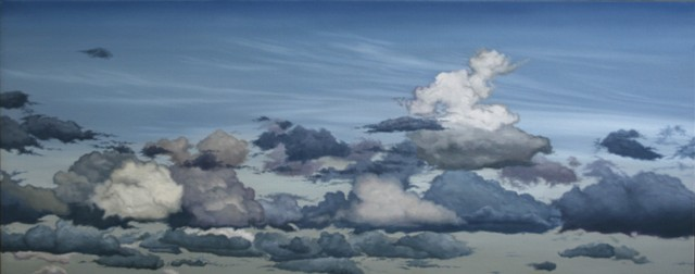 Some Other Clouds, Olie på lærred, 75 x 200 cm