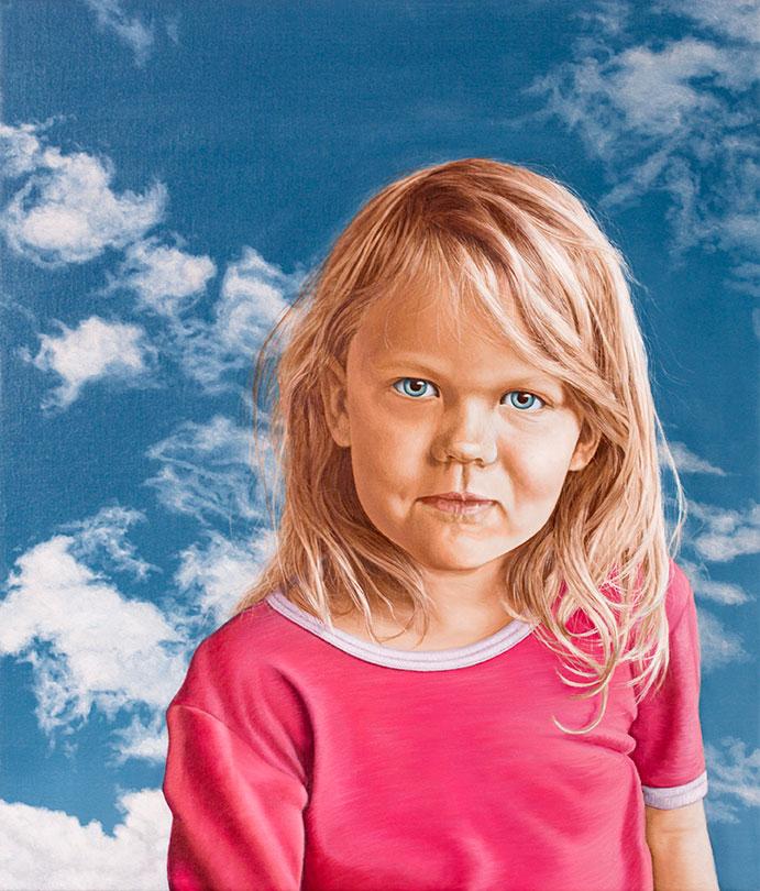Ulrikke Forsell, Olie på lærred, 80 x 70 cm