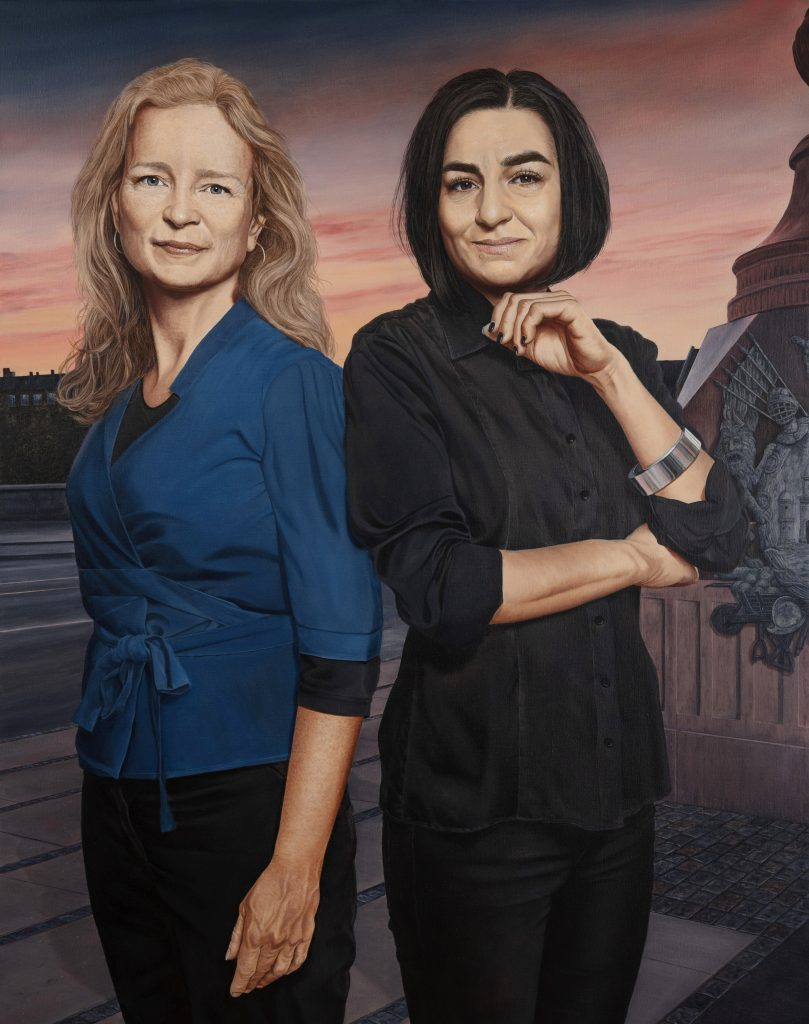 Ninna Thomsen og Ayfer Baykal. Olie på lærred. 160 x 120 cm